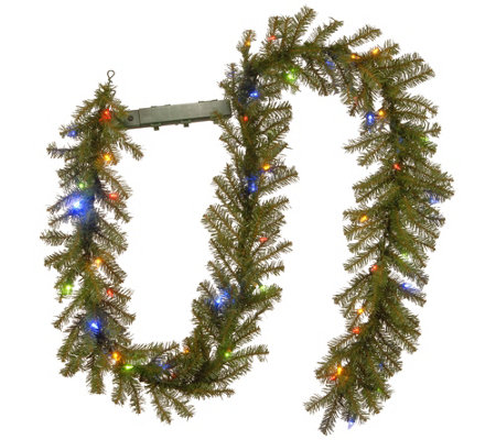 National Tree Company 9 Fir Garland Battery Operated Lights