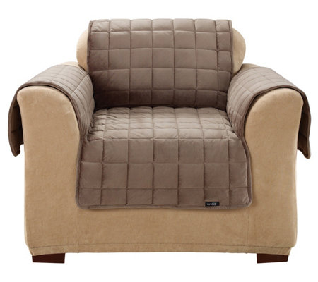 Wondrous Sure Fit Deluxe Pet Comfort Chair Cover Qvc Com Pdpeps Interior Chair Design Pdpepsorg