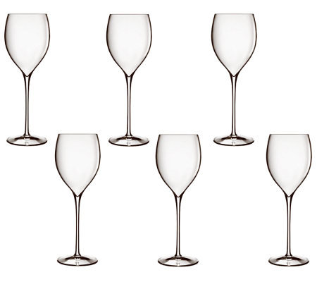 Luigi Bormioli Set of 6 Magnifico Wine Glasses,11.75oz