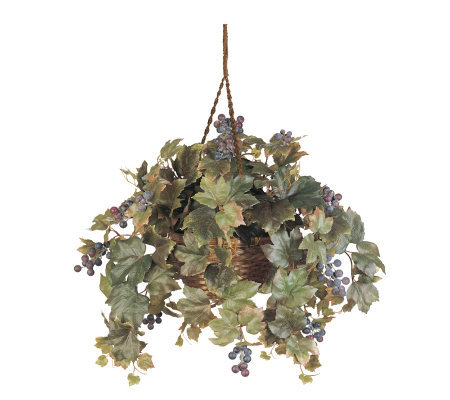 Grape Leaf Hanging Basket Plant by Nearly Natural