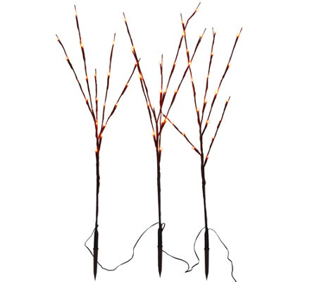 """As Is"" Set of 3 Decorative LED Light Up Branches by Lori Greiner"