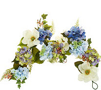 4' Hydrangea and Berry Garland by Valerie - H214410