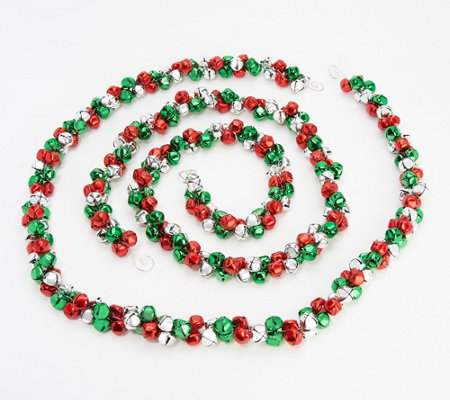 Set of (2) 5' Jingle Bell Garlands by Valerie