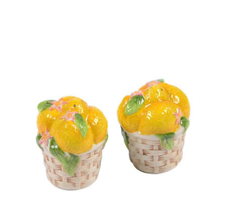 Temp-tations Figural Fruit Salt and Pepper Shakers