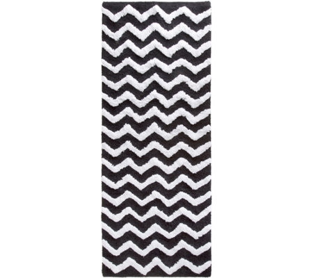 Lavish Home 100 Cotton Chevron 24 X 60 Bathroom Mat