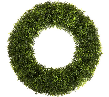 "Pure Garden 20"" Round Grass Wreath"