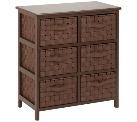 Honey Can Do Woven Strap 6 Drawer Chest