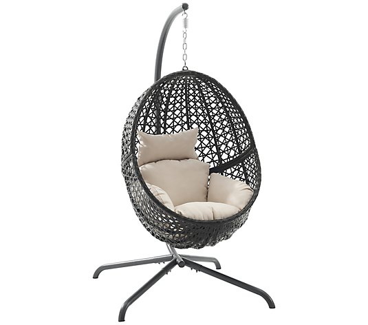 Crosley Calliope Indoor/Outdoor Wicker HangingEgg Chair