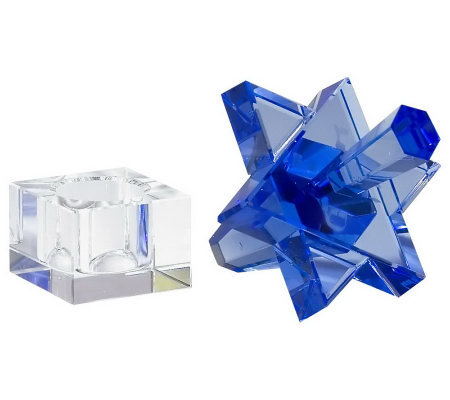 Copa Judaica Crystal Star of David Dreidel