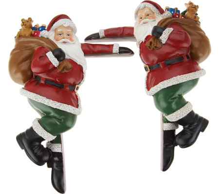 Plow & Hearth Set of 2 Festive Holiday Character Door Corners