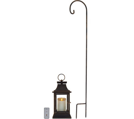 "Luminara 12"" Heritage 2.0 Lantern with Hook and Remote"