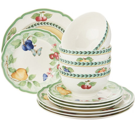 Superieur Villeroy U0026 Boch French Garden 12 Piece Porcelain Dinnerware Set