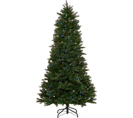 """As Is"" Santa's Best 7.5' Green 137 Function LED Smart Tree"