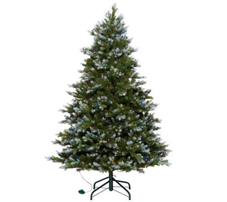 """As Is"" Scott Living 5' Snow Dusted Color Flip LED Fir w/ 7 Functions"