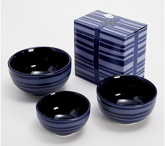 Temp-tations Stripe 3-pc Nested Bowl Set with Gift Box