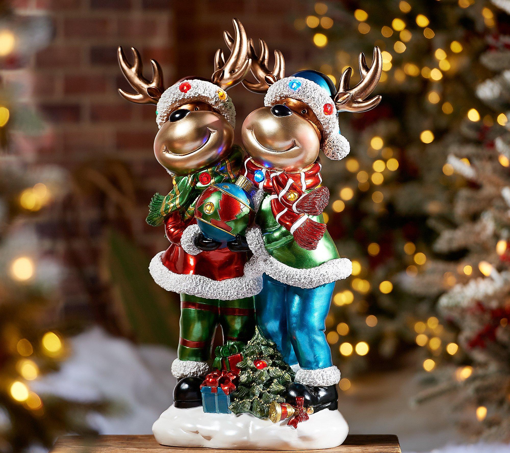 """Kringle Express 22"""" Resin Indoor/Outdoor Reindeer Duo"""