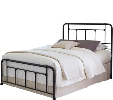 Fashion Bed Group Baldwin Queen Complete Bed w/Metal Posts