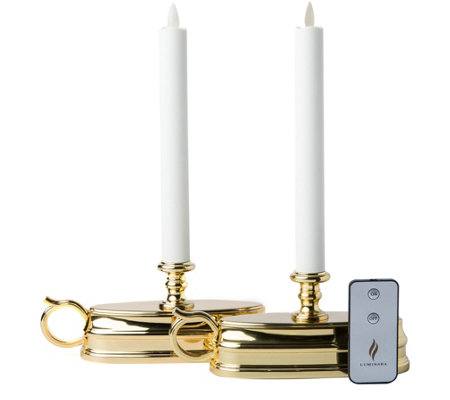 Luminara S/2 Colonial Style Window Candles withRemote Control