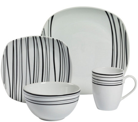 Tabletops Gallery 16-Piece Dinnerware Set - Justin
