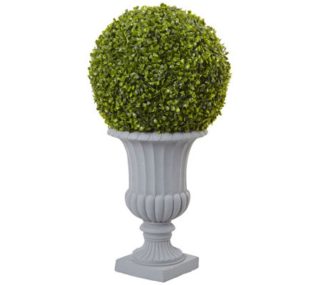 2.5' Boxwood Topiary Tree with Urn by Nearly Natural