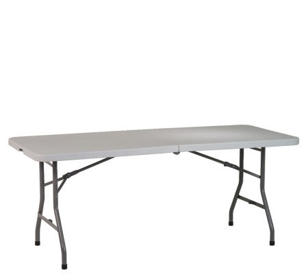 6 Resin Center Fold Table By Office Star Qvc Com