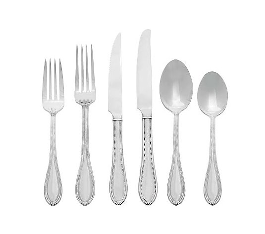 Isaac Mizrahi Live! 92-piece Flatware Set by Reed &Barton
