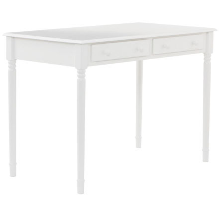 White Writing Desk with Two Large Drawers