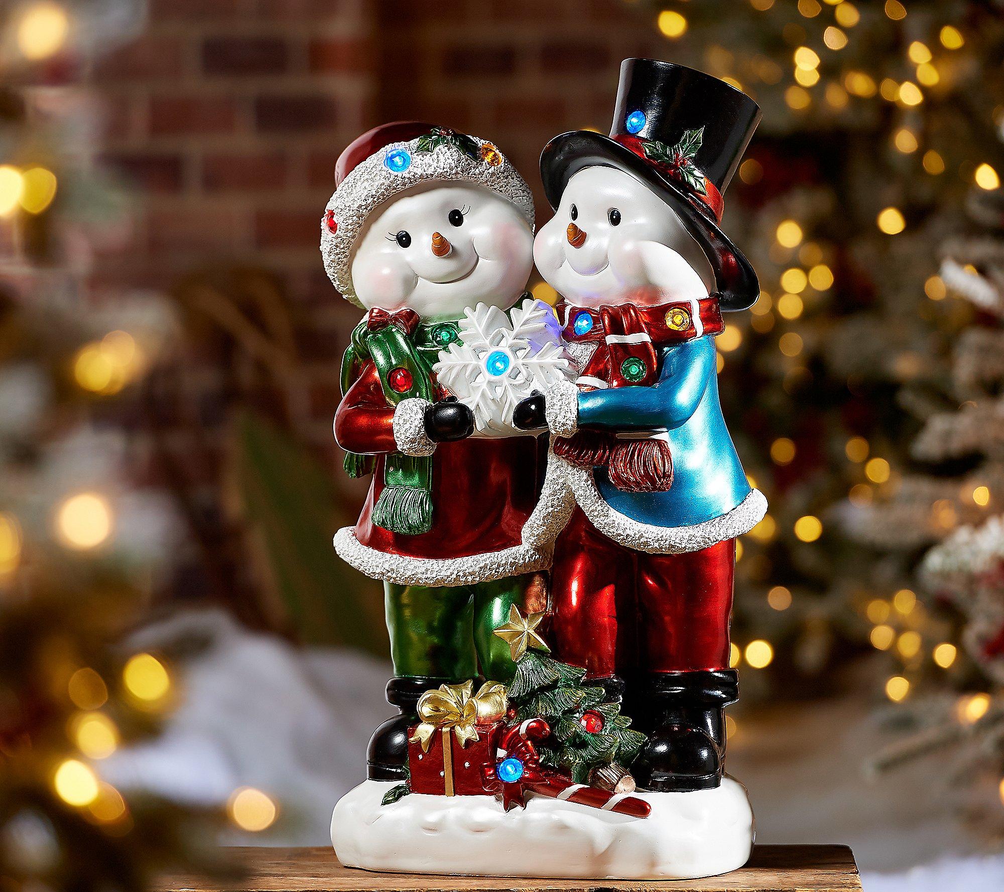 """Kringle Express 22"""" Resin Indoor/Outdoor Snowman Duo"""