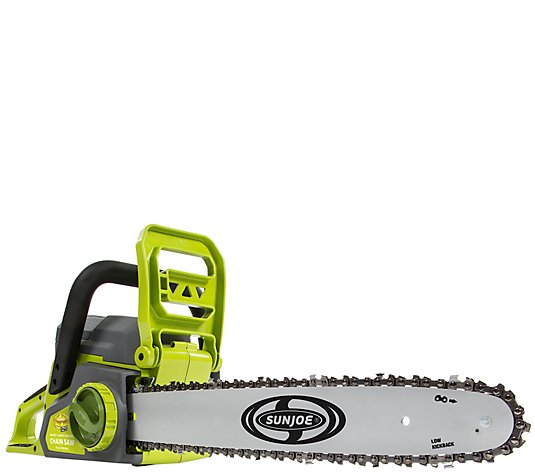 "Sun Joe iON Cordless Chain Saw 40V 16"" Brushless"