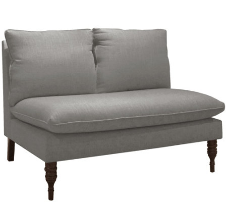 Skyline Furniture Linen Armless Pillow-Topped Love Seat