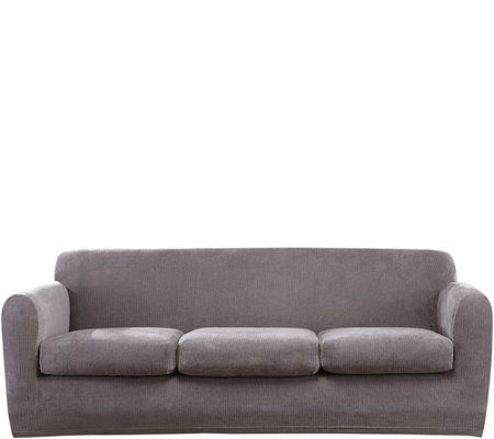 Sure Fit Stretch Chenille 3-Cushion Sofa Slipcover