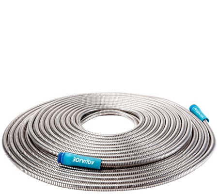 Sun Joe Heavy-Duty 100' Stainless Steel Metal Garden Hose