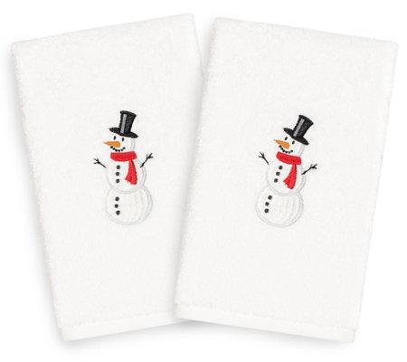 Linum Home Textiles Snowman 2 Piece Hand Towels