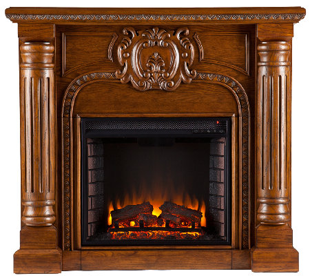 Hansbrough Electric Fireplace - Salem AntiquedOak