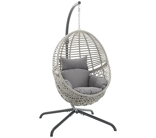 Crosley Lorelei Indoor/Outdoor Wicker Hanging Egg Chair