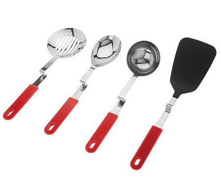 Set of 4 Convenient No Mess Cooking Utensils by Lori Greiner