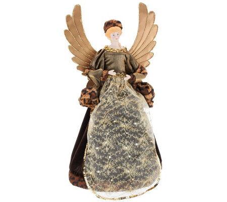 "Dennis Basso 18"" Angel with Faux Fur Trim"