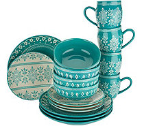 Cook's Essentials Savannah 16-piece Dinnerware Set - H211113