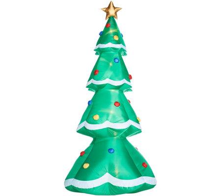 Christmas Tree Inflatable.Indoor Outdoor Kringle Express Christmas Tree Inflatable Qvc Com