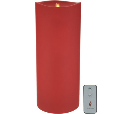 "Luminara 6"" x 14"" Outdoor Pillar Candle with Remote"
