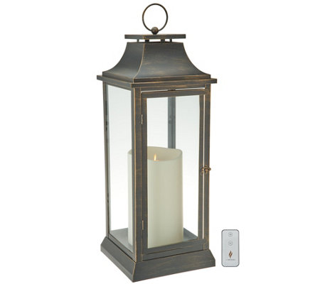 "Luminara 25"" Heritage 2.0 Lantern with 6""x10"" Outdoor Candle w/Remote"