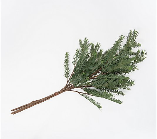 Set of 3 Natural Hemlock Greenery Branches by Valerie