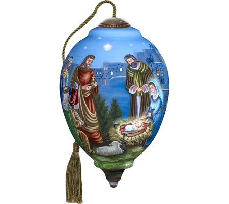 "6.75"" Limited Edition Nativity Ornament by Ne'Qwa"