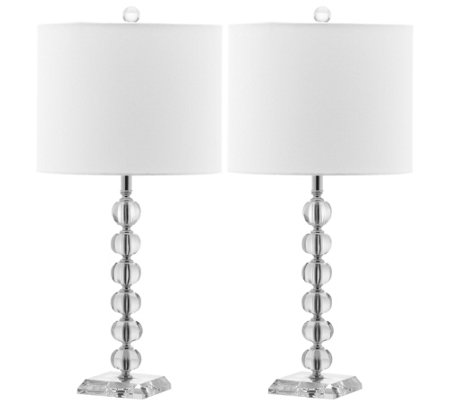 Safavieh Set of 2 Victoria Crystal Ball Lamps