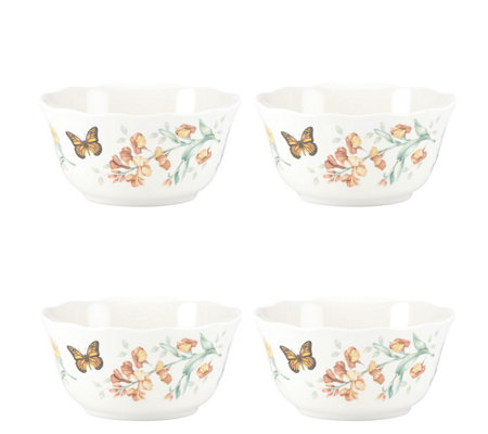 Lenox Set of 4 Butterfly Meadow All Purpose Bowls
