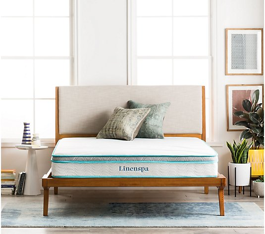 "Linenspa 8"" Memory Foam and Innerspring Twin Mattress"