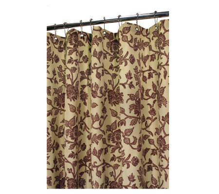 Watershed 2-in-1 Floral Swirl 72x72 Shower Curtain
