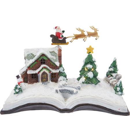 Plow & Hearth Illuminated Holiday Story Book Scene