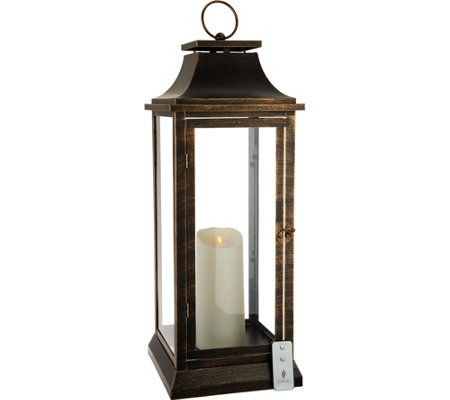 "Luminara 25"" Heritage 2.0 Lantern with Remote"