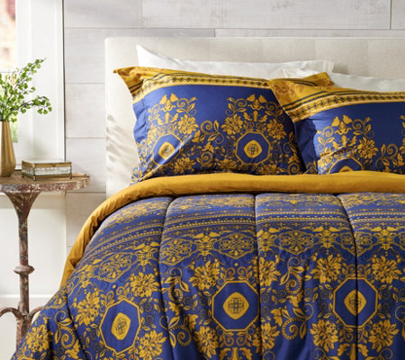 Celtic European Design Queen Comforter Set with Two Shams